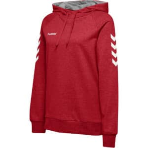 Hml Go Cotton Hoodie Femme Rouge