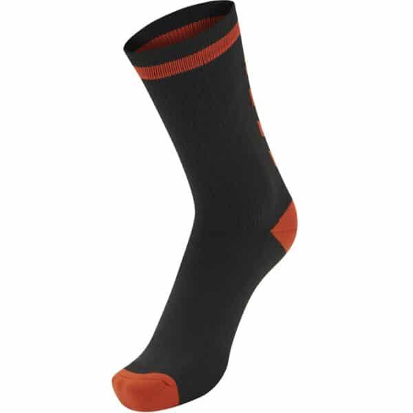 Elite Indoor Socks Low Noir-Rouge