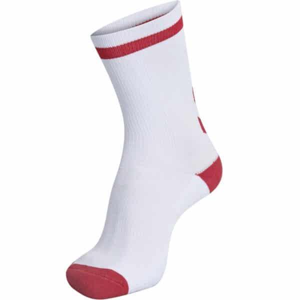 Elite Indoor Socks Low Blanc-Rouge