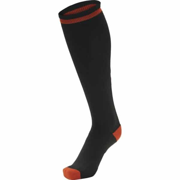 Elite Indoor Socks High Noir-Rouge