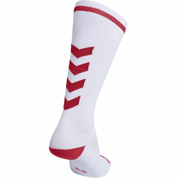 Elite Indoor Socks High Blanc-Rouge