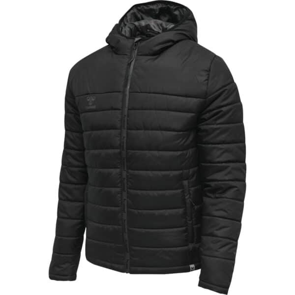 Hml North Quilted Hood Jacket Homme Noir