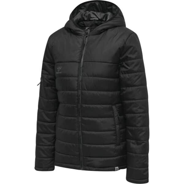 Hml North Quilted Hood Jacket Femme Noir