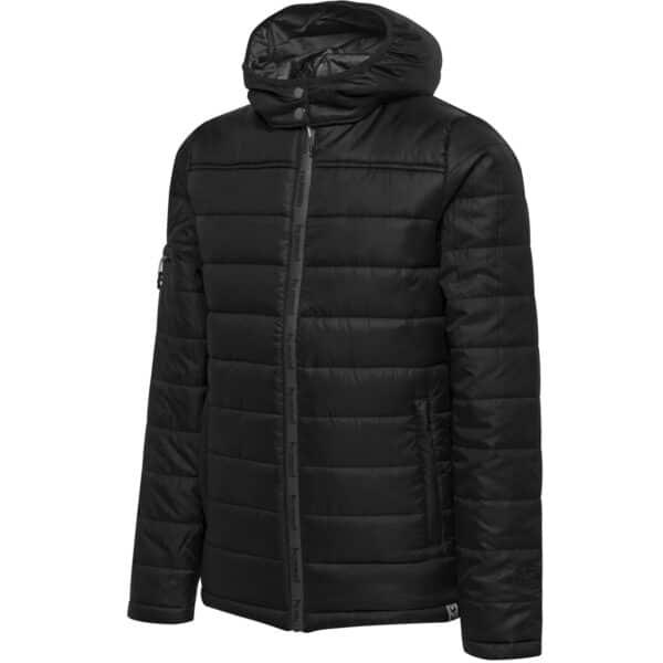 Hml North Quilted Hood Jacket Enfant Noir